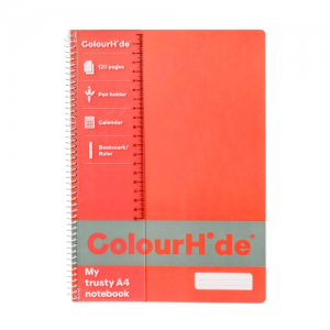 PRODUCT DETAIL COLOURHIDE NOTEBOOK A4 120PG FL ORANGE