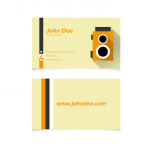 UNLAMINATED BUSINESS CARDS