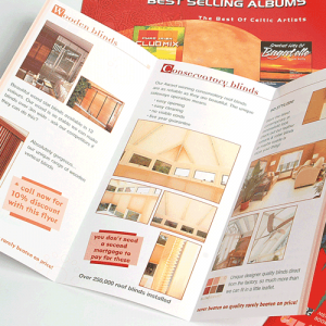 DIGITAL FOLDED GLOSS LEAFLETS