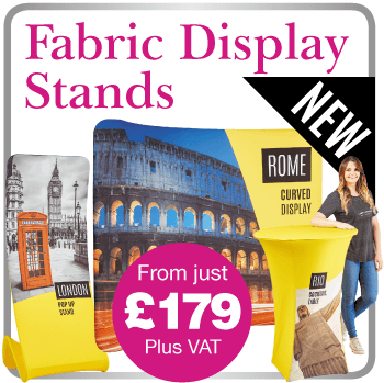 Printed Fabric Display Stands in Risborough