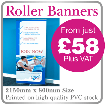 cheap roller banners chesham