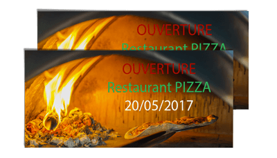 Exemple de flyers pour pizzeria
