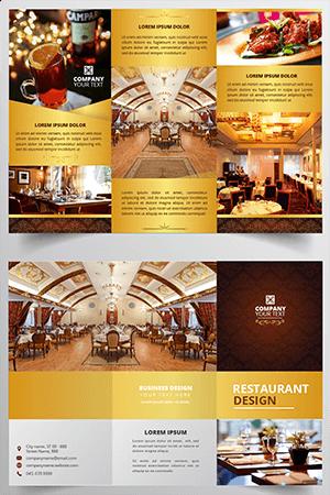 modèle de déplient pour restaurant