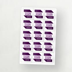 planche de stickers immobilier