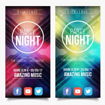 exemple de flyers pour soirée et évènement