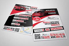 flyers auto ecole