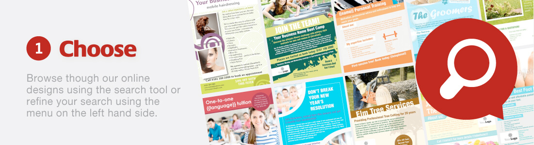 Choose Leaflet designs