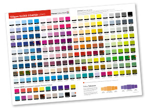 Colour Charts Are Available For Our Main Paper And Card Stocks Can Be Used To Get A Better Indication Of Your Printed Colours
