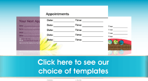 Appointment Card Templates