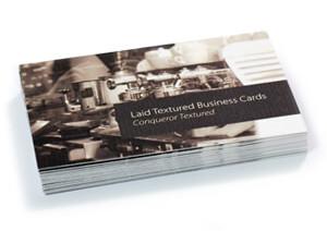 Conqueror laid business cards
