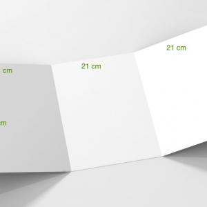 3 volets 21x 29,7 cm (A4) fermé - 6 pages