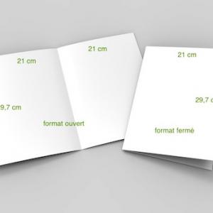 2 volets 21 x 29,7 cm (A4) fermé - 4 pages
