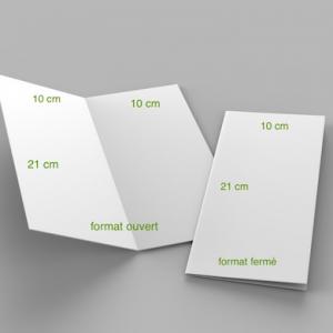 2 volets 10 x 21 cm fermé – 4 pages