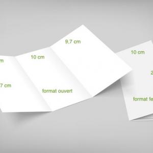 3 volets 10 x 21 cm fermé - 6 pages