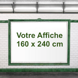 Affiche 240 x 160 cm