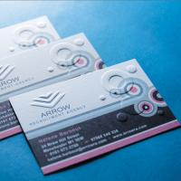 300gsm Embossed Business Cards