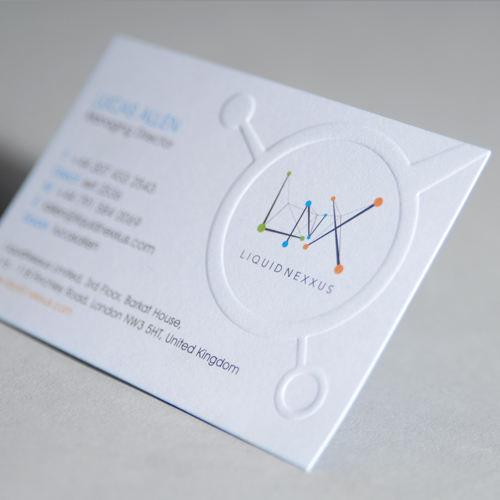 Embossini embossed business cards printing uk reheart