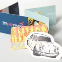 Fabu-Gloss Folding Business Cards