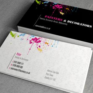 Business card: Matt Laminated