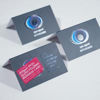 400gsm Spot Gloss Folding Business Cards