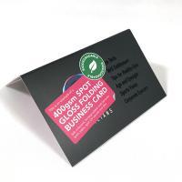 400gsm Spot Gloss Folding Business Cards