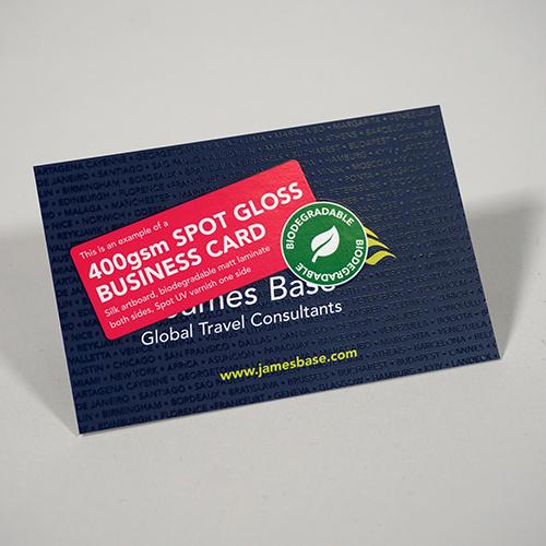 400gsm Spot Gloss Business Card Ofmg