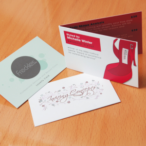 350gsm Uncoated Folding Business Cards