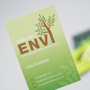 Business card: Natural Uncoated