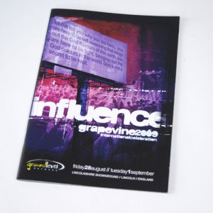 A5 Brochure staand: 100gsm Uncoated
