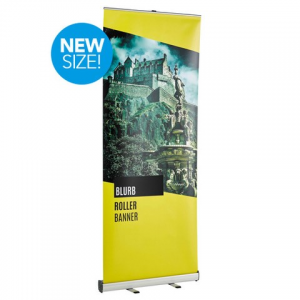 Blurb Roller Banner Stand and Poster