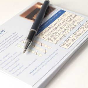400gsm Comment Cards