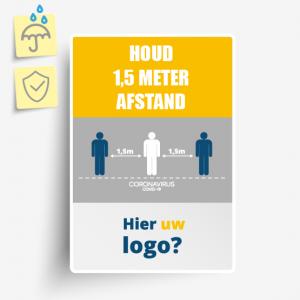 Corona informatiebordjes plastic eigen logo