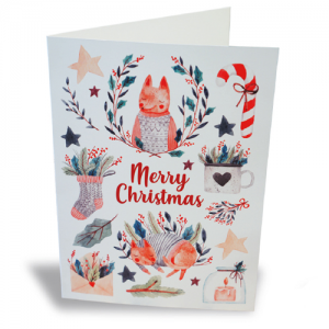 Template Digital Christmas Cards
