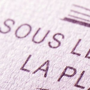 Carte de visite papier texturé