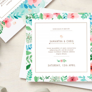 400gsm Wedding Invitations