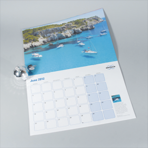 100gsm A4 14mth Digital Calendar: 2 Pages Per Mth