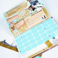 170gsm A4 14mth Digital Calendar : 2 Pages Per Mth