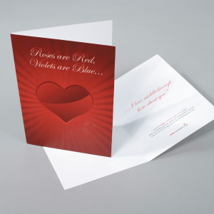 400gsm Matt Laminated Greeting Cards
