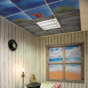 Dalles de plafond imprimées