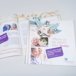 100gsm Recycled Folded Leaflets