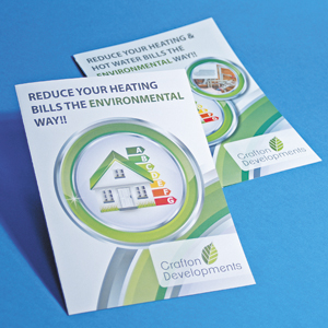 160gsm Recycled Folded Leaflets