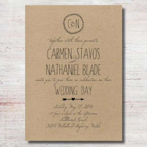 Kraft Invitations