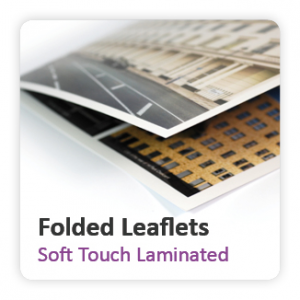 Soft Touch Laminated Folded Leaflets