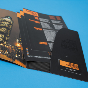 Spot UV Interlocking Presentation Folders