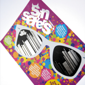 StarMarque Spot UV Flyers Creased or Shaped