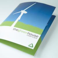400gsm 2-panel Gloss Lam Peel & Stick Folders