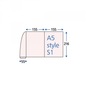 Spot Gloss 2-Panel Peel & Stick Folders