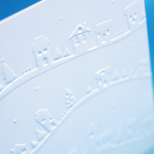 300gsm Die-cut Embossed Uncoated Flyers