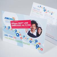 400gsm Embossed Matt Lam Flyers