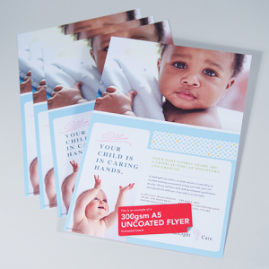 300gsm Uncoated Flyers